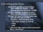 converting data types