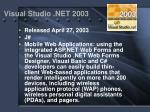 visual studio net 2003