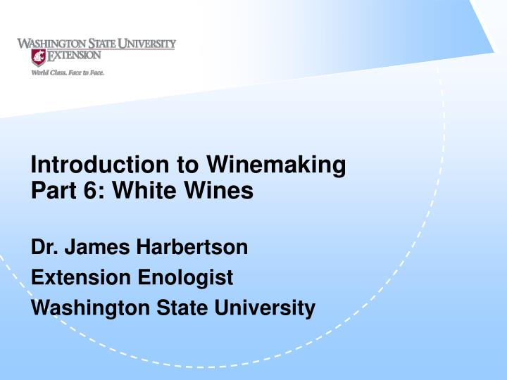 introduction to winemaking part 6 white wines n.