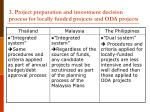 3 project preparation and investment decision process for locally funded projects and oda projects