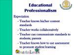 educational professionalism