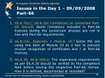 issues in the day 1 09 09 2008 part 66