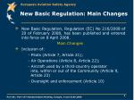new basic regulation main changes