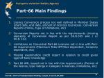 part 66 main findings