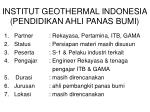 institut geothermal indonesia pendidikan ahli panas bumi