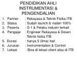 pendidikan ahli instrumentasi pengendalian