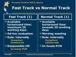 fast track vs normal track