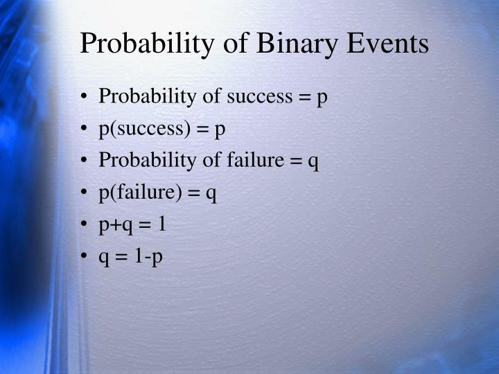 Probability of binary events