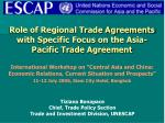 role of regional trade agreements with specific focus on the asia pacific trade agreement