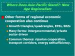 where does asia pacific stand new age regionalism1