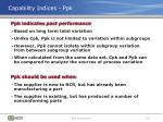 capability indices ppk