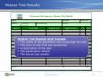 module test results