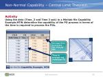 non normal capability central limit theorem