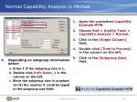 normal capability analysis in minitab