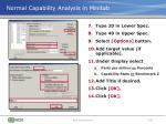normal capability analysis in minitab1