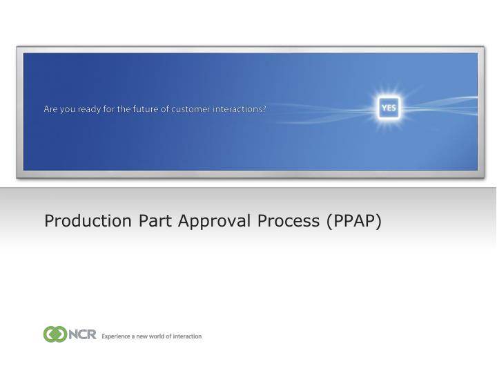 production part approval process ppap n.