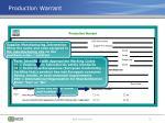 production warrant2