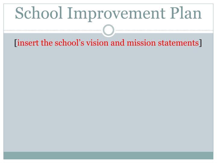 School improvement plan1