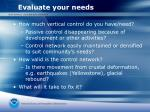 evaluate your needs