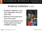 evidence collection 1 of 2