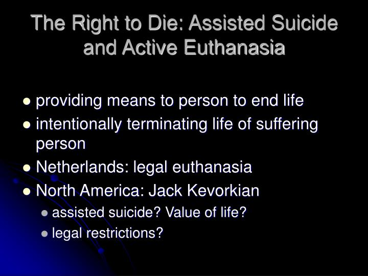 a study on assisted suicide or euthanasia New hampshire: assisted suicide/euthanasia study bill these laws allow euthanasia choice is an illusion new hampshire: assisted suicide/euthanasia study.