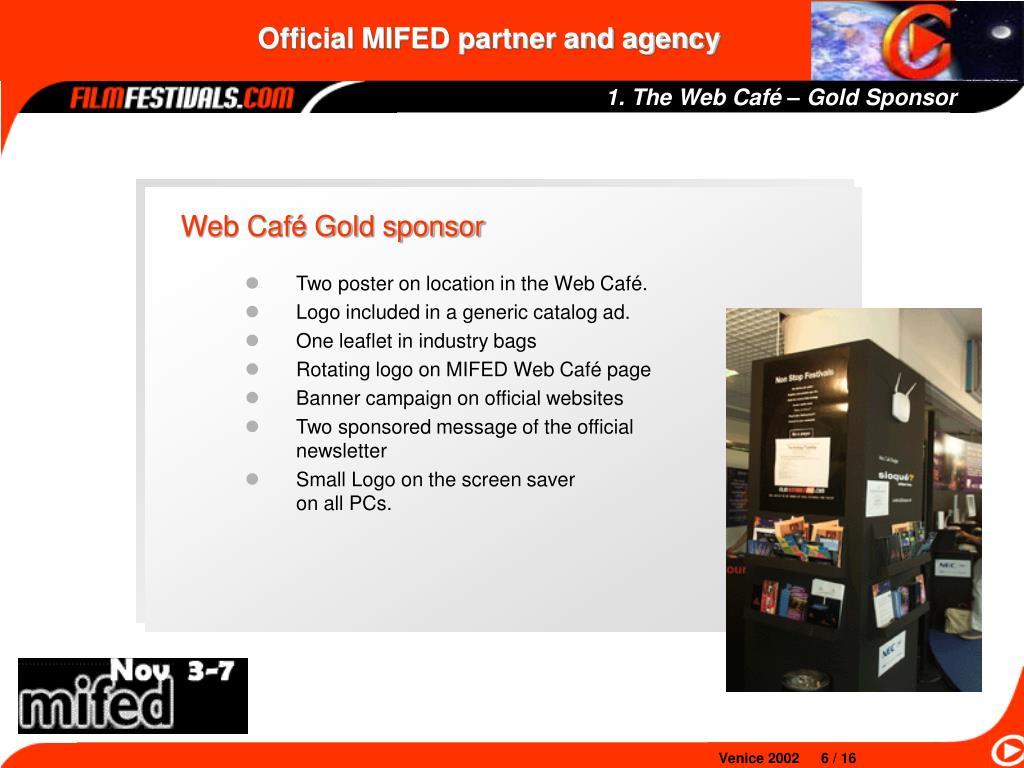 1. The Web Café – Gold Sponsor