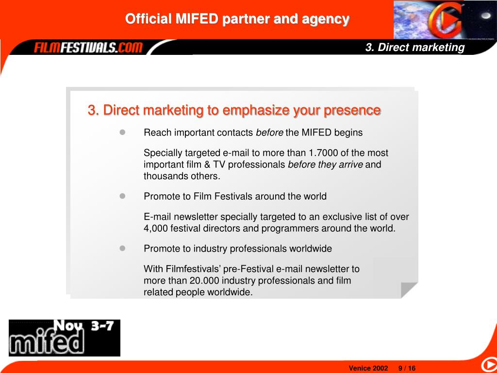 3. Direct marketing