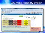 why predict probability of click