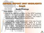 annual report 2007 highlights cont