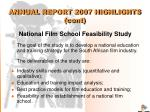 annual report 2007 highlights cont14