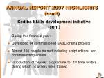 annual report 2007 highlights cont5