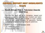 annual report 2007 highlights cont9
