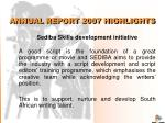 annual report 2007 highlights