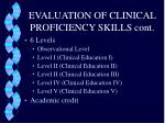 evaluation of clinical proficiency skills cont1