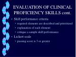evaluation of clinical proficiency skills cont2