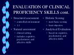 evaluation of clinical proficiency skills cont3