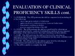 evaluation of clinical proficiency skills cont4
