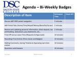 agenda bi weekly badges