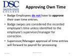 approving own time