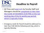 deadline to payroll