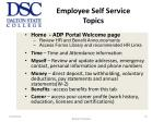 employee self service topics1