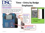 time entry by badge employees