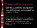 mulvey and psychoanalysis