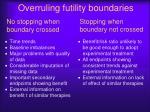 overruling futility boundaries