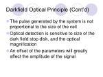 darkfield optical principle cont d1