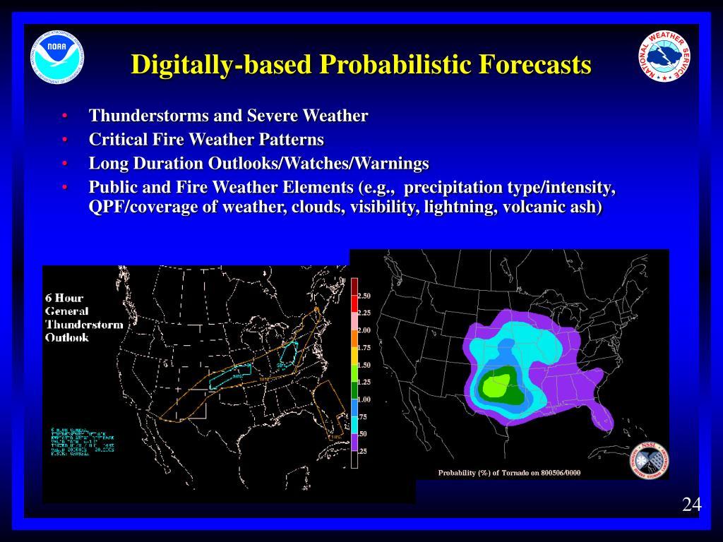Digitally-based Probabilistic Forecasts