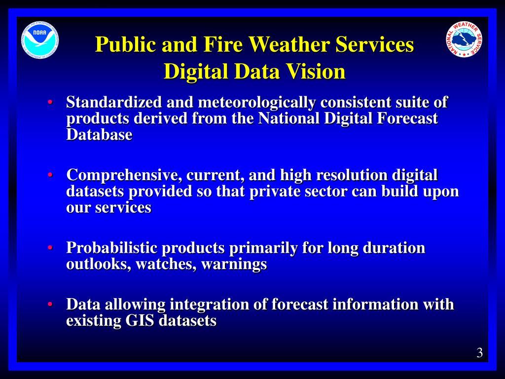 Public and Fire Weather Services