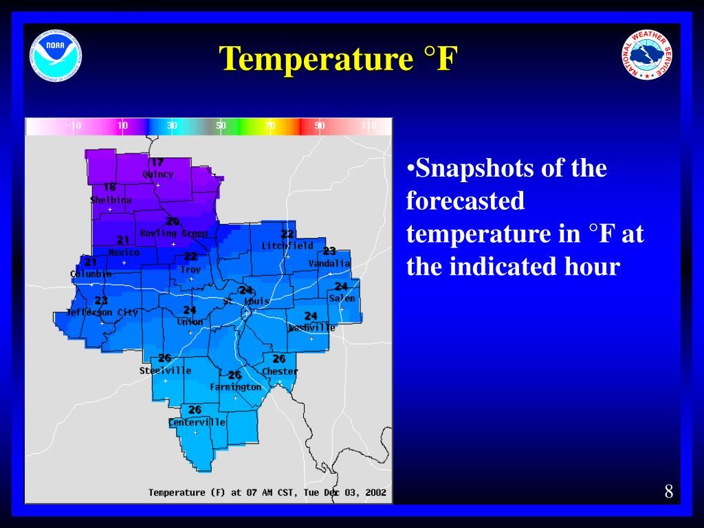 Temperature °F