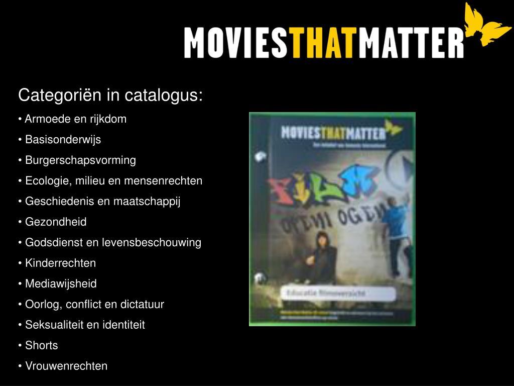 Categoriën in catalogus: