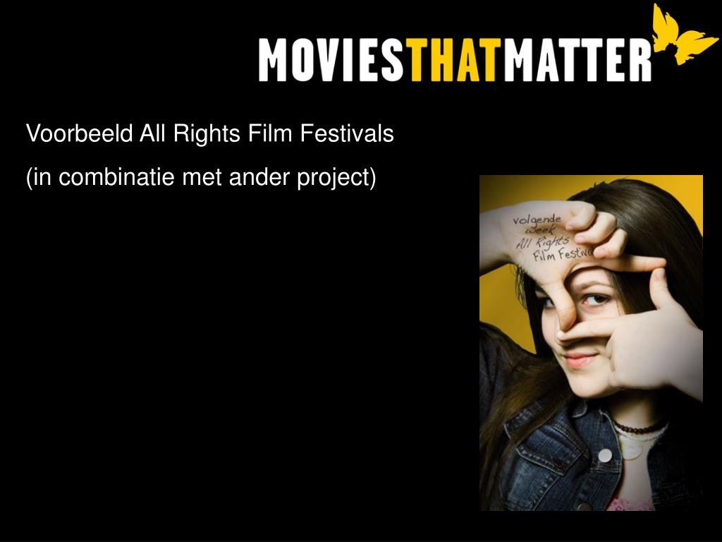 Voorbeeld All Rights Film Festivals